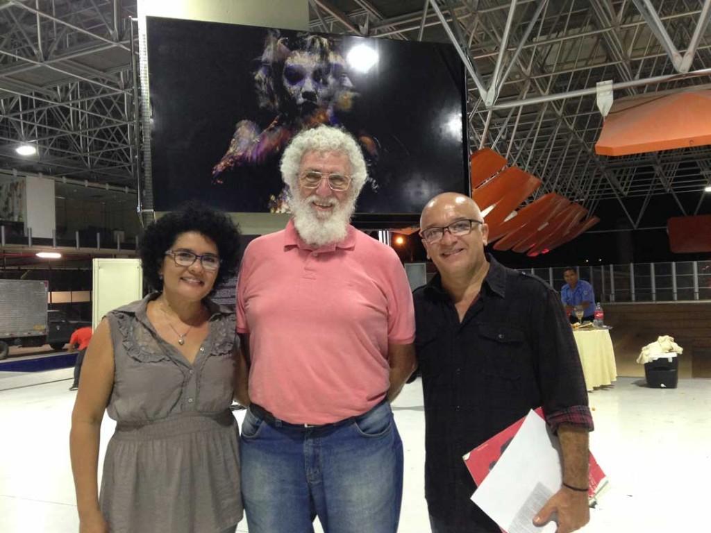 Maurise Quaresma, diretora da galeria e Edilson Parra, diretor de Artes Visuais do Espaço Cultural, em João Pessoa-PB